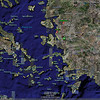 This Google Earth image shows Bergama and Foça in relation to İzmir.