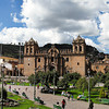 Plaza de Armas<br /> A hubbub of activity no matter the time of day.  It's considered to be the heart of Cusco.  The Cathedral  (center) and  La Compañia, the Jesuit Church (right edge), dominate the plaza.